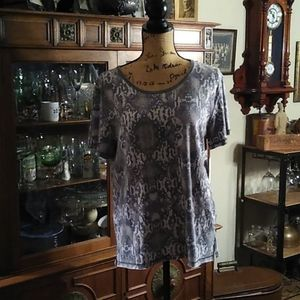 Free People Black combo snake print XS Tee Shirt